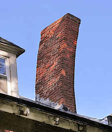 Leaning chimney