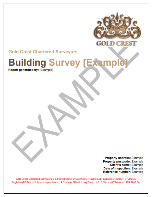 Gold Crest Building Survey Report Sample