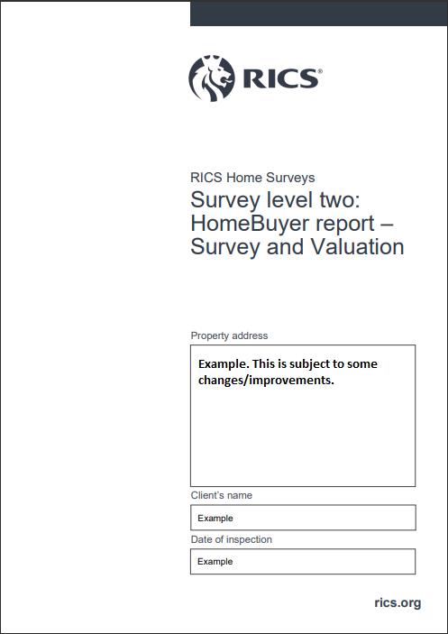 RICS Level-2 HomeBuyer Report Sample